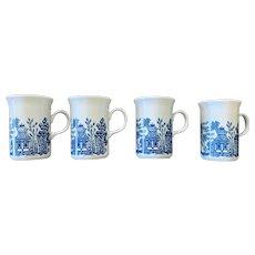 Churchhill Willow Blue Mug Set of Four