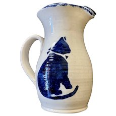 Three Rivers Pottery Cat Lovers Milk Pitcher