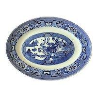 Vintage Homer Laughlin Blue Willow Platter 1941