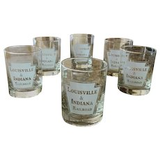 Louisville & Indiana Railroad Double Old Fashioned Glass Set