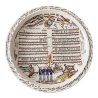 Vintage Vernon Kilns Multi Color Marine Corps Hymn Plate