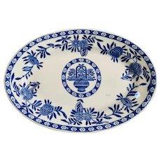 Vintage Jackson China Blue Delft Restaurant Ware Platter