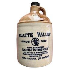McCormick Platte Valley Corn Whiskey Jug