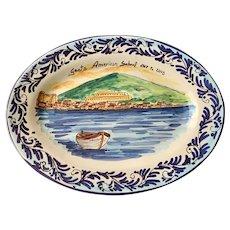 La Meridiana Italian Majolica Gaeta American School Plate
