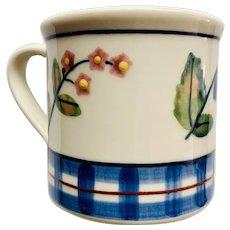 Hartstone Pottery Blue Trellis Mug