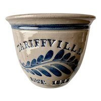 Westerwald Pottery Salt Glaze Crock Tariffville 1825