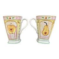 Sutherland Fine Bone China Fruitful Mug - Set of 2