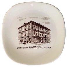 Grand Hotel Continental Roma Ashtray / Trinket Dish Richard Ginori