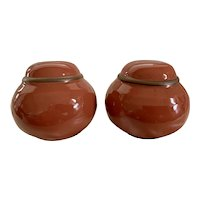 Noritake Madera Peach Salt and Pepper Set