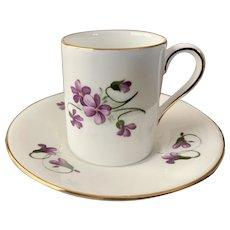 Oakley China Ltd Violets Demitasse Cup & Saucer Ser