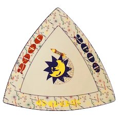 Buffalo China Triangular Millennium Plate
