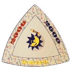 Buffalo China Triangular Millennium Plate
