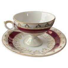 Lefton Demitasse Pedestal Cup and Saucer Set Pattern 6762