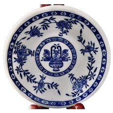 Walker China Restaurant Ware Monkey Dish Blue Delph Pattern