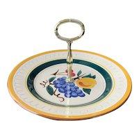 Stangl Pottery Tidbit Tray Serving Plate Fruit Pattern
