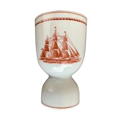 Wedgwood Flying Cloud Double Egg Cup Eggcup Rust Color