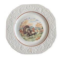 Cuthbertson Autumn Pattern Salad Plate Turkeys England