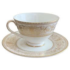 Royal Doulton Sovereign Pattern Cup and Saucer