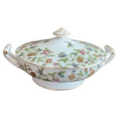 Aladdin China Occupied Japan Fantasia Pattern Covered Casserole