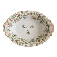 Aladdin China Occupied Japan Fantasia Pattern Oval Vegetable Dish