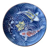 Large Decorative Japanese Koi Plate