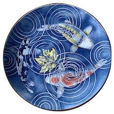 Large Decorative Japanese Koi Plate