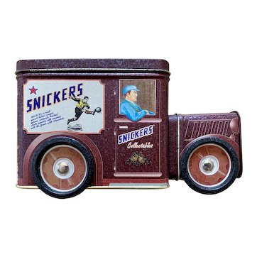 Vintage Snickers Truck Tin