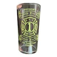 Firemen's  Glass Montville New Jersey Fire Department Wetdown 1976