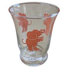 Vintage Libbey Pink Elephant Juice Tumbler