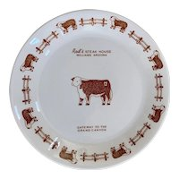 Vintage Rod's Steak House Bread Plate by Syracuse China