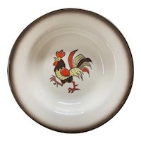 Metlox Poppytrail Red Rooster Soup Bowl