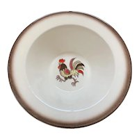 Metlox Poppytrail Red Rooster Rimmed Cereal Bowl