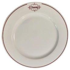 Vintage Homer Laughlin Charger Plate Tuscany Restaurant Pristine Line