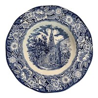 Staffordshire Liberty Blue Rimmed Soup Bowl