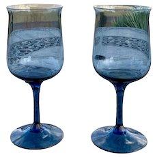 Lenox Blue Mist Pattern Water / Wine Glass Set