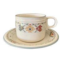 Studio Nova Timberline Pattern Flat Cup & Saucer Set