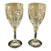 Godinger Palm Pattern Water Goblet Wine Glass Set