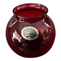 Anchor Hocking Royal Ruby Ivy Ball Vase