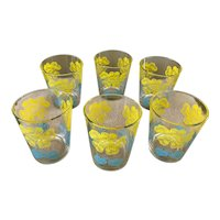 Vintage Mystic Illusion Dahlia Old Fashion Glass Set