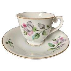 Craftsman China Pink Rose Demitasse Cup & Saucer Pattern #243