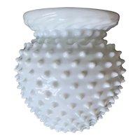 Vintage Hobnail Milk Glass Vase