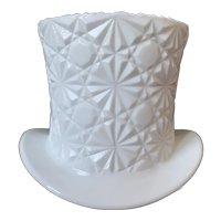 Fenton Daisy & Button Milk Glass Top Hat