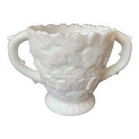 Westmoreland Bramble Milk Glass Open Sugar