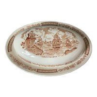 Alfred Meakin Fair Winds Brown 1/4 LB Covered Butter Dish