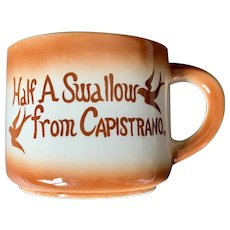 EFCCO Half a Swallow from Capistrano Souvenir Cup