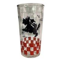 Vintage Hazel Atlas Scottie Drinking Glass Tumbler