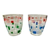 Vintage Hazel Atlas Sour Cream Glass Tumbler Set