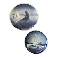 Royal Copenhagen B&G Little Mermaid Plate Set
