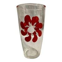 Hazel Atlas 1 Pt Red Whirligig Glass