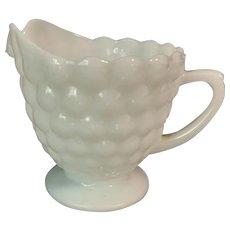 Anchor Hocking Milk Glass Bubble Creamer